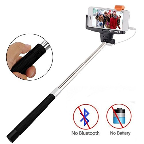 selfie stick urpower extendable cable control self portrait monopod selfie stick pole for. Black Bedroom Furniture Sets. Home Design Ideas