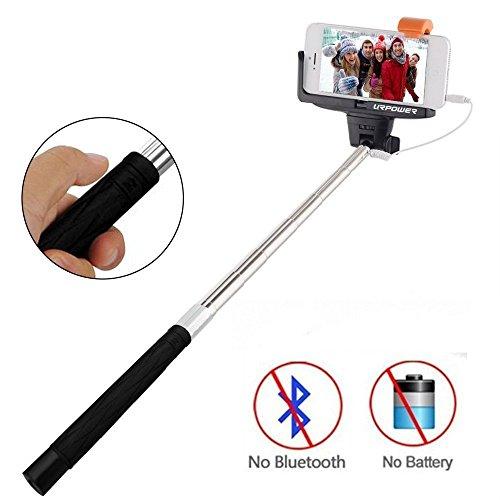 selfie stick urpower extendable cable control self portrait monopod selfie. Black Bedroom Furniture Sets. Home Design Ideas