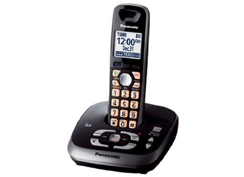 Panasonic KX-TG4031B DECT 6.0 PLUS Expandable Single Handset with Digital Answering System