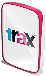 trax GPS Intelligentes GPS-Ortungsgerät für Kinder und Haustiere, himbeerrot