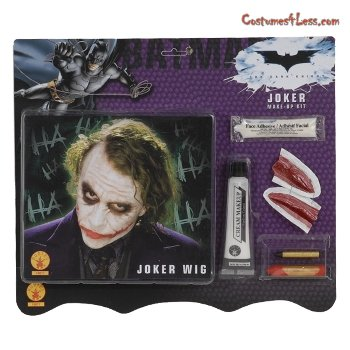 [Deluxe Joker Wig & Make-Up Kit Costume Accessory] (Joker Costume Makeup)