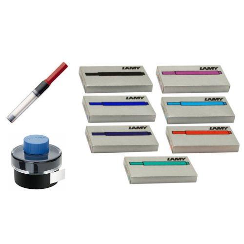 LAMY/ラミー サファリ・アルスター 万年筆使いこなし インク(カートリッジ7色・ボトル3色)・コンバーター3個 セット