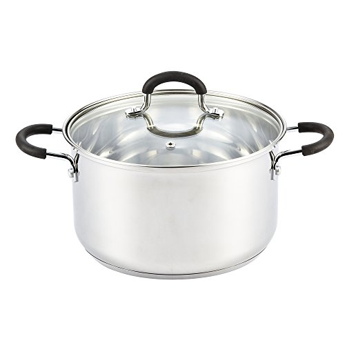Cook N Home Stainless Steel Stockpot With Lid, 5 Quart, Silver (Pasta Pot Induction compare prices)