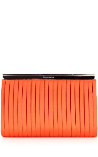 Pleated Satin Clutch
