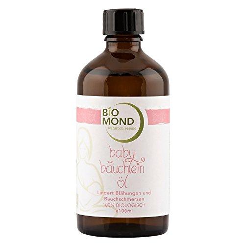 BIO Baby Bäuchlein Öl von BIOMOND / 100 ml / ohne Zusatzstoffe / Babyöl / Massageöl / entspannt den zarten Babybauch / von Hebammen empfohlen / 100% biologisch