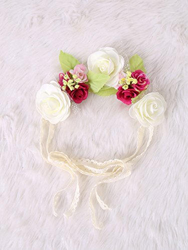 Festival Boho Hippy Hair Head Band/ Rose Crown/Bohemian style (Pinkful) (Wedding Favor Sunflower Seeds compare prices)
