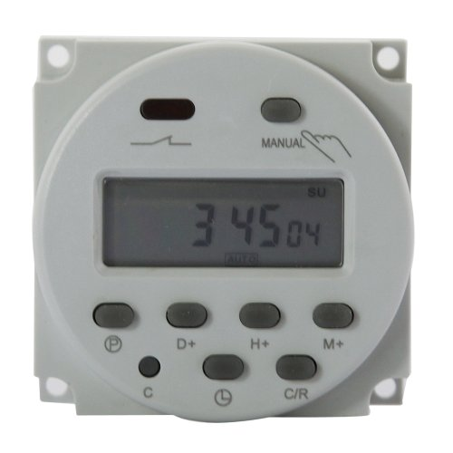 Gadgetzone (Us Seller) Dbpower® Cn101 Dc 12V Digital Lcd Programmable Timer Time Relay Switch Support 17-Times Daily Weekly Program, White