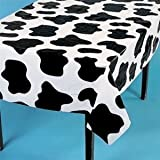 Cow Print Plastic Tablecloth