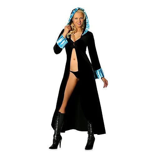 Sexy Halloween Costumes : Mink Trimmed Robe - Womens Sexy Costume