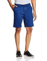 Basics Men's Cotton Shorts (8907054579174_14BSS31486_30_Blue)