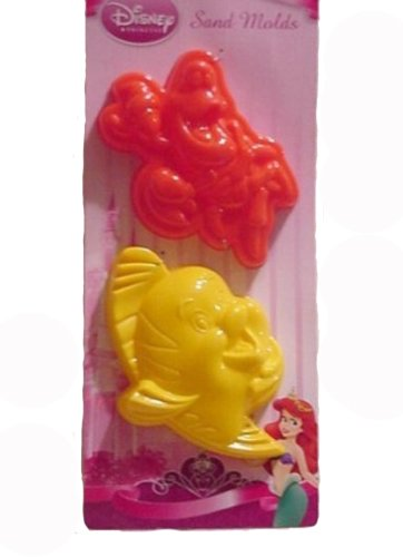 Disney Princess Little Mermaid 2 Pack Sand Molds
