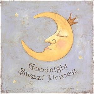 Goodnight Sweet Prince Art Poster PRINT Stephanie Marrott 12x12