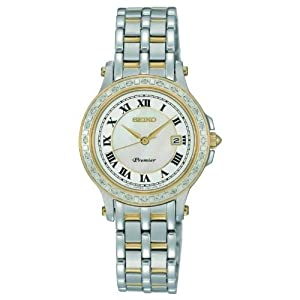 Seiko Premier SXDE58 27.6mm Diamonds Stainless Steel Women's Watch