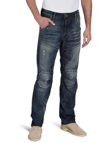 G-Star Men's 5620 3D Dimension Tapered - 50688 Tapered Jeans Blue (Med Aged Destry 3142) 36/36