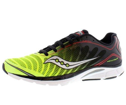Saucony Men's Progrid Kinvara 3 Running Shoe,Black/Citron/Red,10 M US (Kinvara 2 compare prices)