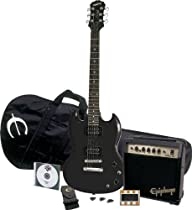 Epiphone SG Special Electric Guitar Player Pack, Ebony Chrome Hardware¹