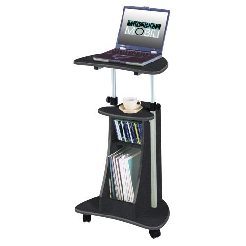 Portable Office Laptop Desk Rolling Adjustable Table Cart