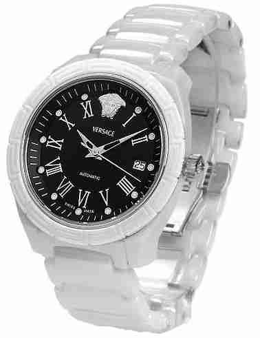 Versace Montre bracelet Femme, Céramique, couleur  blanc 97cdc5b8ab0