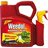 Weedol Root Kill Plus Gun! 3L Weedkiller Kills Roots & Weeds Coverage Spot