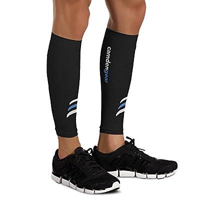 Camden Gear Calf Compression Sleeve - Helps Shin Splints. Leg Socks for Men and Women - Black