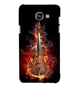 Burning Guitar 3D Hard Polycarbonate Designer Back Case Cover for Samsung Galaxy A7 (2016) :: Samsung Galaxy A7 2016 Duos :: Samsung Galaxy A7 2016 A710F A710M A710FD A7100 A710Y :: Samsung Galaxy A7 A710 2016 Edition