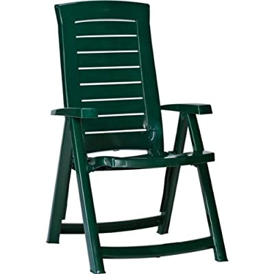 Recliner chair green with advanced windup 4 led outdoor lantern