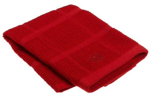 Calphalon Textiles Terry Dish Cloth, Tomato Red
