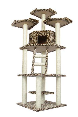 BestPet Cat Tree Condo Furniture Scratch Post Pet House, 76-Inch
