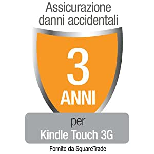 Assicurazione di Squaretrade contro Danni Accidentali e Guasti Meccanici/Elettrici per Kindle Touch (3G Gratis + Wi-Fi) solo per clienti residenti in Italia