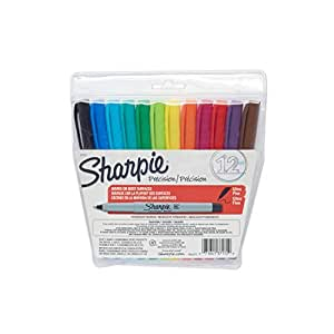 Sharpie 37172 Ultra Fine Point Permanent Marker, Assorted Colors, 12-Pack