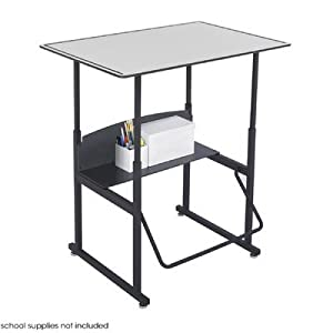 "Safco AlphaBetter 24"" x 36"" Student Desk in Gray from Safco"