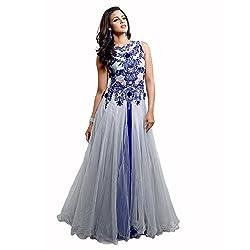 Admyrin Womens Net Sleeveless Dress (Ay-Gn-Fsn-1042 _off-White+Blue _Large)