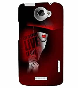 PrintVisa Stylish Cool Girl Quotes 3D Hard Polycarbonate Designer Back Case Cover for HTC One X