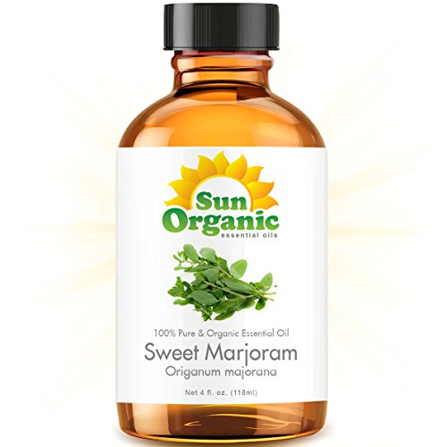Sweet Marjoram - Large 4 Ounce - Organic, 100% Pure Essential Oil (Best 4 Fl Oz / 118Ml) - Sun Organic