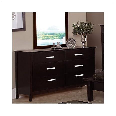 Coaster Furniture 5633 Stuart Contemporary 6 Drawers Dresser in Cappuccino,