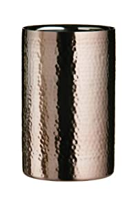 Premier Housewares Champagne and Wine Cooler Stainless Steel Hammered Effect, Bronze from Premier Housewares