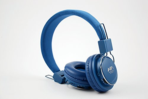 Granvela A809 Foldable Headphone Headset New Fashion Brand Music Player Wireless Handsfree Headset Headphones Earphone,Support Tf Card Fm Radio Monitor Portable Audio Pc --Blue