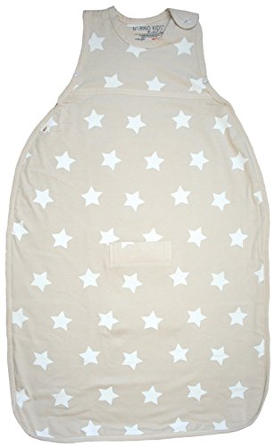 Merino Kids Starry Nights Baby Sleep Sack For Babies 0-2 Years, Vanilla front-927728