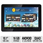 Hannspree 10.1-Inch Quad Core Tablet Pc T7 Series With Ips 1280X800 10 Points Touch Bluetooth And 16Gb Memory Android Jelly Bean (Metallic White Color)
