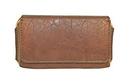 TOTTA PU Leather Hand Pouch For Micromax Canvas Xpress 2- BROWN
