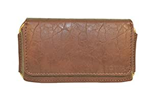 TOTTA PU Leather Hand Pouch For Obi worldphone sf1- BROWN