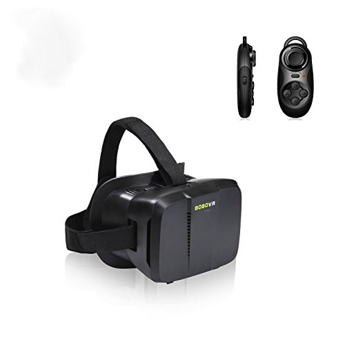 COOLTECH VIRTUAL REALITY CARDBOARD Color Cross Universal Google Cardboard Plastic Version 3D VR Complete Kit Virtual Reality Glasses with Mini Wireless Bluetooth Shutter Controller (SET III)