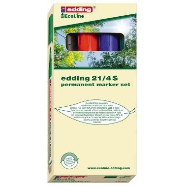 Edding - 4-21-4-marqueur permanent ecoLine 15-3 4 etui 21 mm
