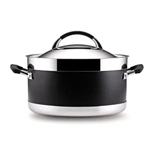 Anolon Ultra Clad Stainless Steel 8-Quart Covered Stockpot