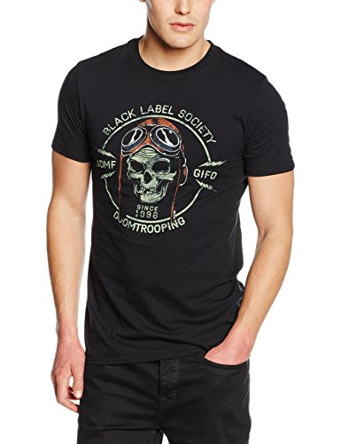 Plastic Head Black Label Society Doom Trooper  TSFB-T-shirt  Uomo    nero Medium