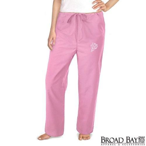 Isu Cyclones Pink Scrubs Pants Bottoms -Size Lg- Iowa State University Ladies front-992192