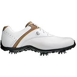 Women\'s Footjoy Lopro Golf Shoes White/Taupe Size 7 M US
