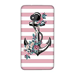 Wrapit Qoutes&words Pink Anchor Hard Back Case Cover For HTC M7