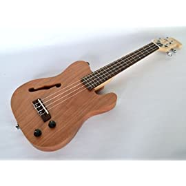 B STOCK TENOR UKULELE SOLID BODY ELECTRIC UKE BY CLEARWATER NEW - COSMETIC BLEMISHES
