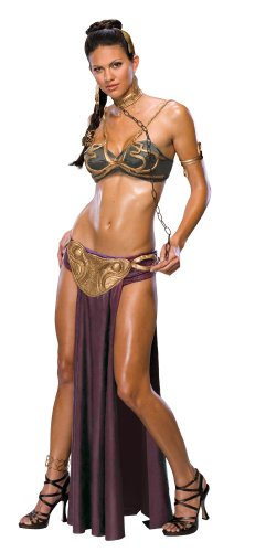 Women's Secret Wishes  Princess Leia Slave Costume, Brown, XS (2/4)